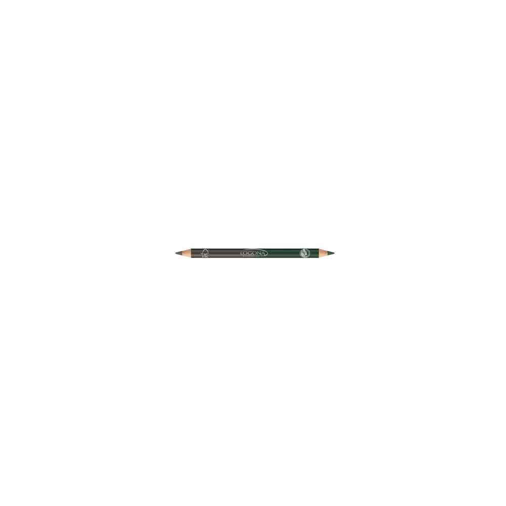 LOGONA DOUBLE EYELINER PENCIL NO. 02, FOREST
