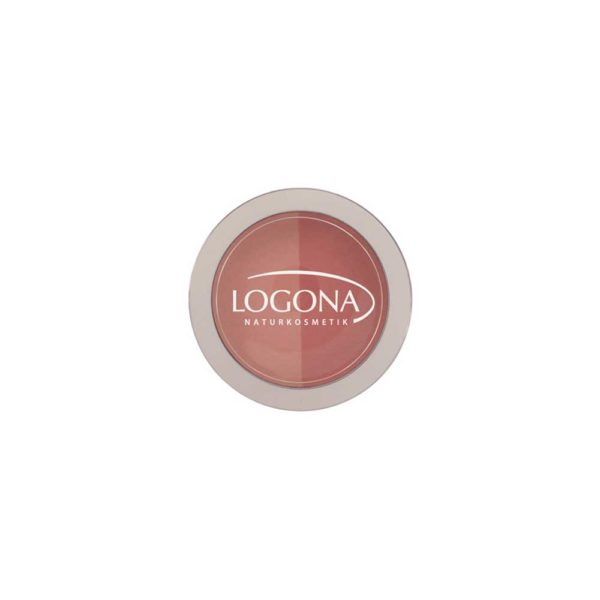 LOGONA BLUSH DUO NO. 02, PEACH + APRICOT 10g