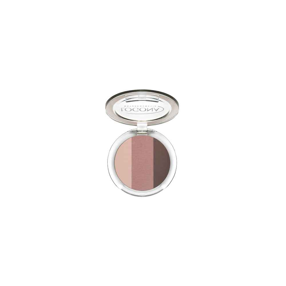 LOGONA EYESHADOW TRIO NO. 03, ROSEWOOD 4g