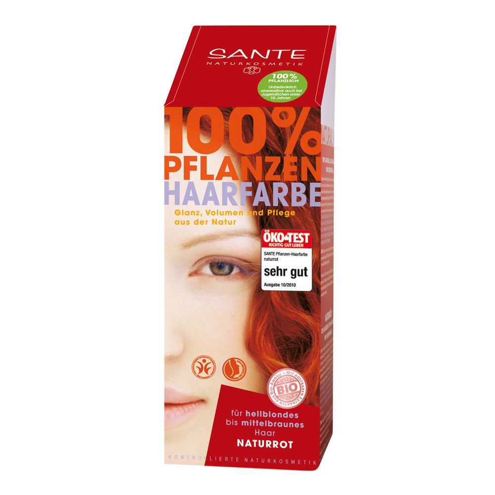 SANTE JAUHEMAINEN HIUSVÄRI NATURAL RED 100ml