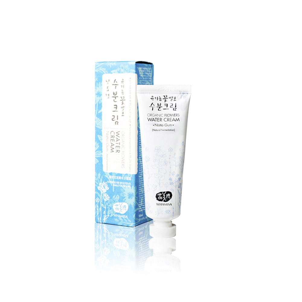 WHAMISA Water Cream Organic Flowers Water Cream Natto Gum 50ml
